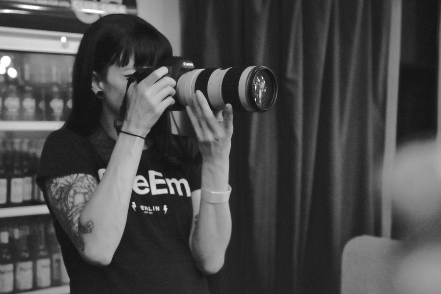 Blackandwhite EyeEm Best Shots - Black + White EyeEm Gallery Eyeemfestival16 Faces Of EyeEm Hard At Work Monochrome People Of EyeEm Photographer Taking Photos Taking Pictures Team EyeEm Woman