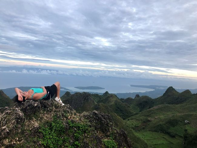 Sky Cloud - Sky Full Length Beauty In Nature Real People One Person Nature Scenics Lying Down Mountain Outdoors