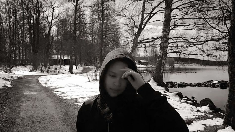 girl Love To Take Photos ❤ Nice View Sweden Cozy Place Cold Weather Daughter Beatiful Love Moments Of Life Swedish Nature Relaxing Day Coldday Blackandwhite Photography Beauty In Nature Black And White