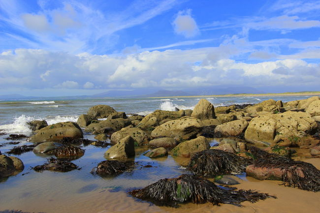 Beauty In Nature Fresh Air Harlech Beach Rock Pool Rocks Sea Breeze Sea Breeze WaterSports Summer Tranquility