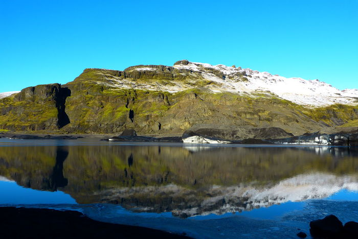 Sólheimajökull in Iceland Thinking Place Clear Your Mind Volcanic Landscape Snowy Mountains Geography Exploring Places To Visit Iceland Clear Sky Glacier Mountain Outdoors Reflection Scenics Tranquility Water An Eye For Travel