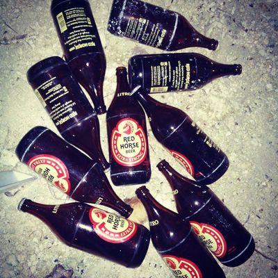 Unwinding after the RedCross Training @ SanJuan Redhorse Blackbelt Beer Sanmiguel SanJuan Siquijor