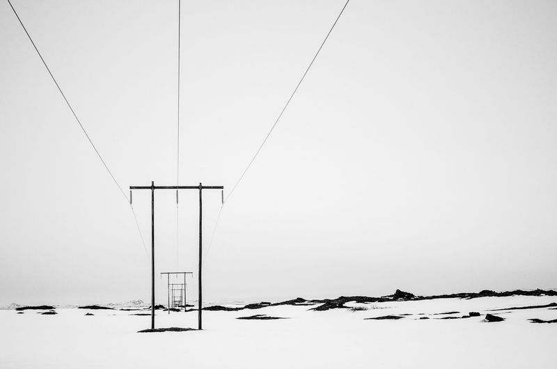 Cable Clear Sky Day High Section Low Angle View Nature No People Outdoors Power Cable Power Line  Power Supply Side By Side Sky The Great Outdoors - 2016 EyeEm Awards The Architect - 2016 EyeEm Awards Iceland