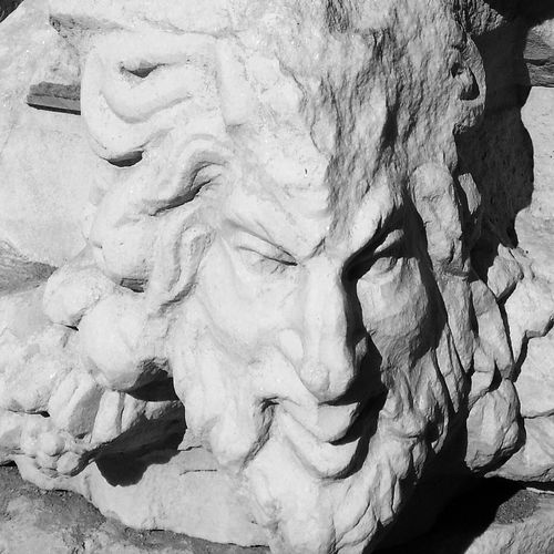 Stone face 3 in black and white in Turkey. Stone Art Old Buildings Travel Photography Streetphotography_bw Black & White Face Of Stone stone face