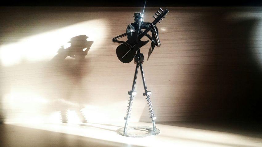 Guitarplayer Music Statuette Artesanato Art Arte Home