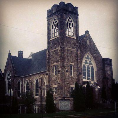Saint John's Church Lutheran West Mauchchunk tower gothicrevival Victorian explorepa rurex stone pennsylvania