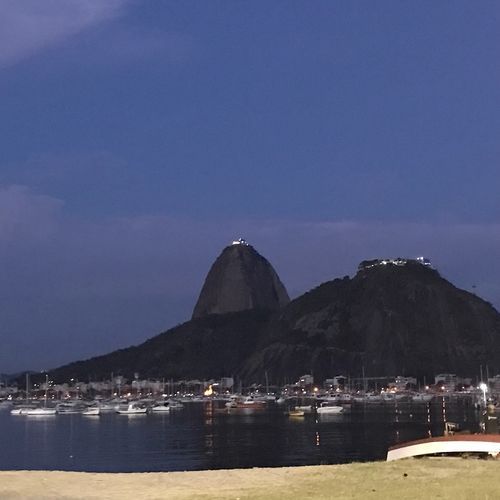 Enseada de Botafogo Water Sky Building Exterior Architecture Sea Mountain Nature City Blue Beauty In Nature Outdoors Scenics - Nature