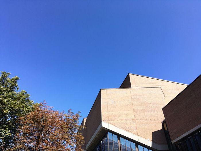 München Munich Gasteig Architecture Built Structure Sky Building Exterior Low Angle View Blue Clear Sky Tree City Sunlight