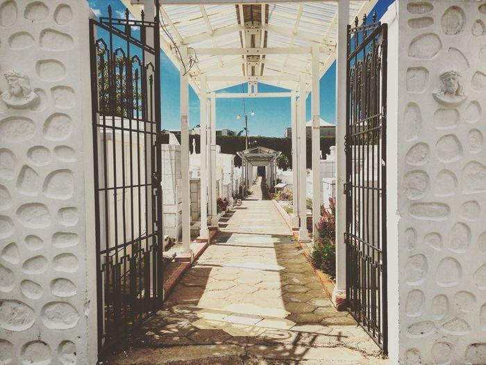 Cementery Entrance Culture Costa Rica Costarica Iron Gate Tropical Cemetery