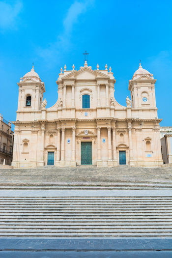 Architecture Built Structure Building Exterior Low Angle View Religion Place Of Worship Belief Building Day Travel Destinations History The Past Nature No People Spirituality Architectural Column Cathedral Catholic Catholic Church Dome Noto Noto,sicily Noto, Sicily Sicily Sicily, Italy