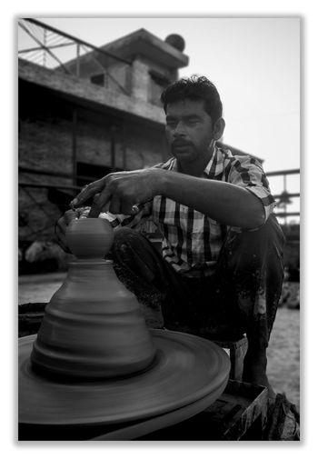 Young man sculpture