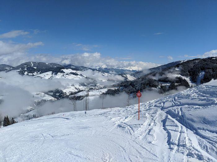 Skiing in