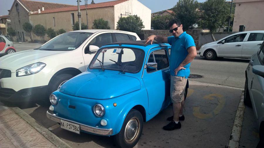 500, Fiat, Blue, Sardinia, Italy, Oldtimer