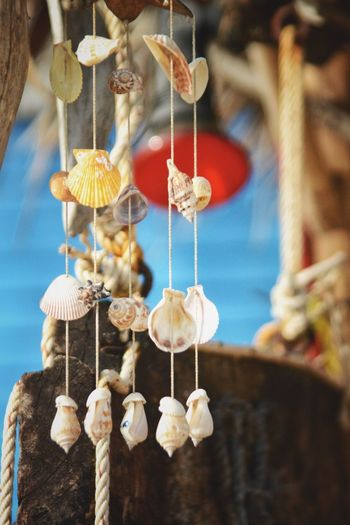 Close-up of lanterns hanging for sale
