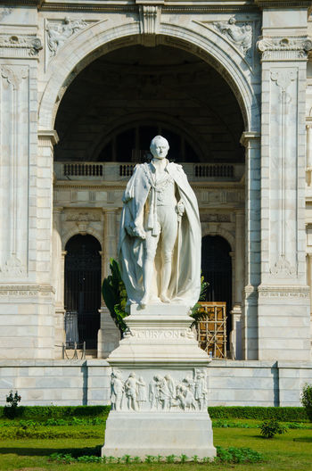 Statue of historic building