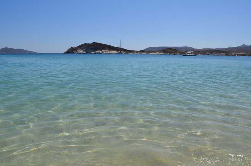 Summer in Greece Beach Blue Crystal Clear Crystal Clear Waters Greece Kimolos Nature No Edit/no Filter No Filter No People Outdoors Reflection Sea Seascape Shore Summer Tranquil Scene Water Landscapes With WhiteWall Blue Wave The Great Outdoors - 2016 EyeEm Awards