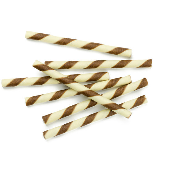 Chocolate sticks isolated on white background. Brown Background Breakfast Cake Candy Chocolate Coffee Color Cookie Cream Dessert Food Fresh Isolated Pastry Refreshment Rolls Snack Stick Sticks Striped Sugar Sweet Wafer Wafers Waffle White White Background Studio Shot Indoors  No People Still Life Close-up Cut Out Food And Drink High Angle View Freshness Musical Instrument Wood - Material Shape Unhealthy Eating Sweet Food Design Indulgence