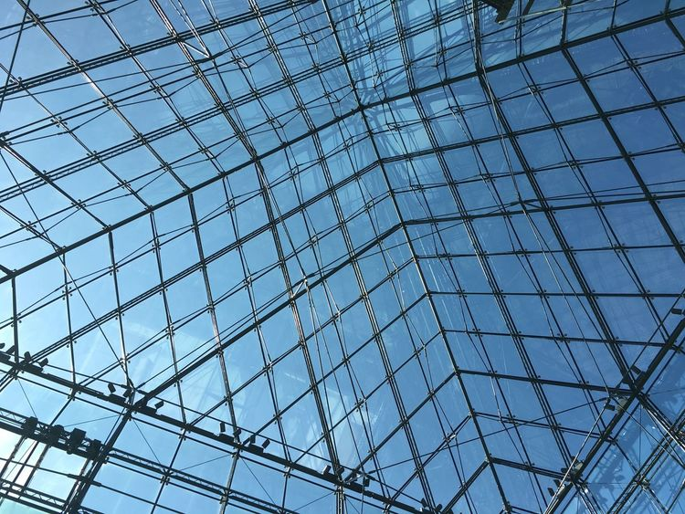 Hidamari Hokkaido Japan Moere-numa Park Pyramid Travel Trip Architectural Feature Architecture Backgrounds Blue Built Structure Day Full Frame Futuristic Glass Glass Pyramid Indoors  Journey Journeyphotography Low Angle View Modern Pattern Sapporo Sky