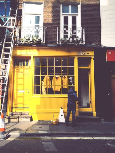 Yellow Window Cleaning Shop Colours