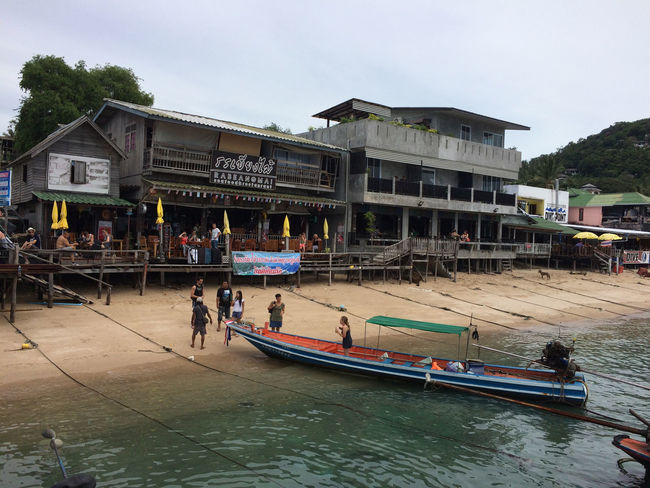 Architecture Building Exterior Built Structure Day Koh Tao Large Group Of People Men Outdoors People Real People Sky Thailand Transportation Women
