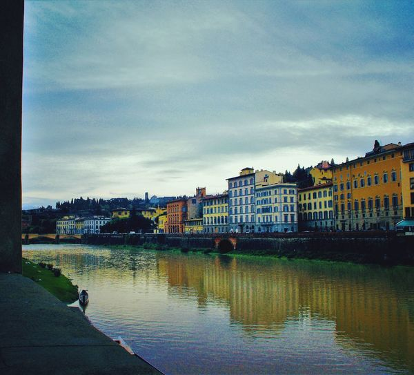 Reflection Sky Building Exterior Architecture Water Outdoors No People City Italianeography Cityscape Day Firenze Firenze, Italy Lanscape Photography Follow4follow Followme Followback Fiumearno River View Riverside River Riverscape Sky And Clouds Cittàdarte Building And Sky