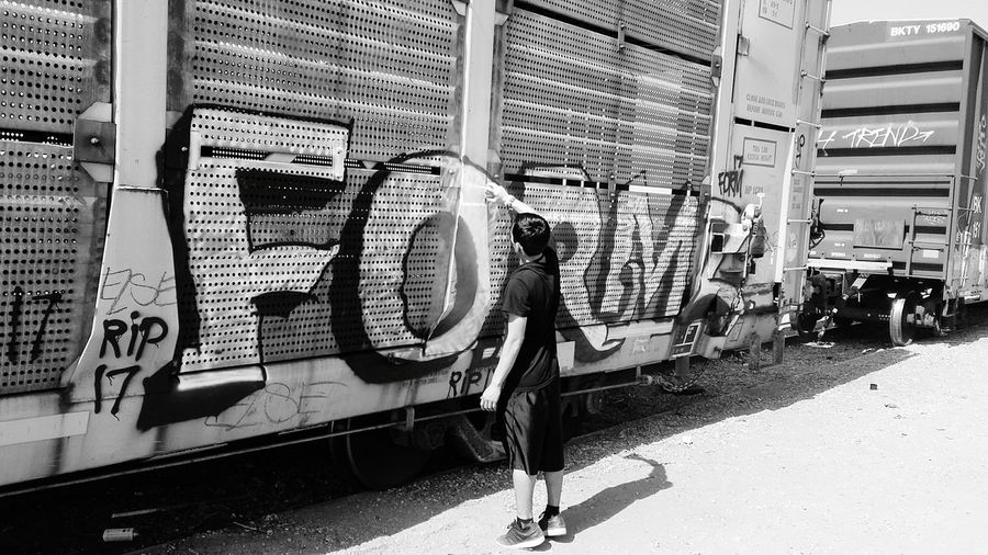 Hidden Gems  Hanging Out Check This Out Cheese! Enjoying Life Graffitiart Graffiti Art Graffiti Relaxing That's Me Check This Out Hi! Tranquil Scene Cheese! Train Station Traindayz City Life Black And White Photography Blackandwhite Photography Blackandwhite Showcase July Escaping Train Tracks Sunset Sunset_collection