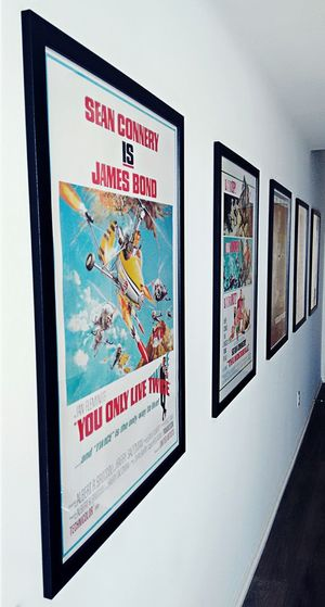 Bond film posters, framed... Taking Photos Check This Out From My Point Of View Jamesbond Cinema Poster Through The Lens Movie Posters Posters Bond, James Bond Cheese!