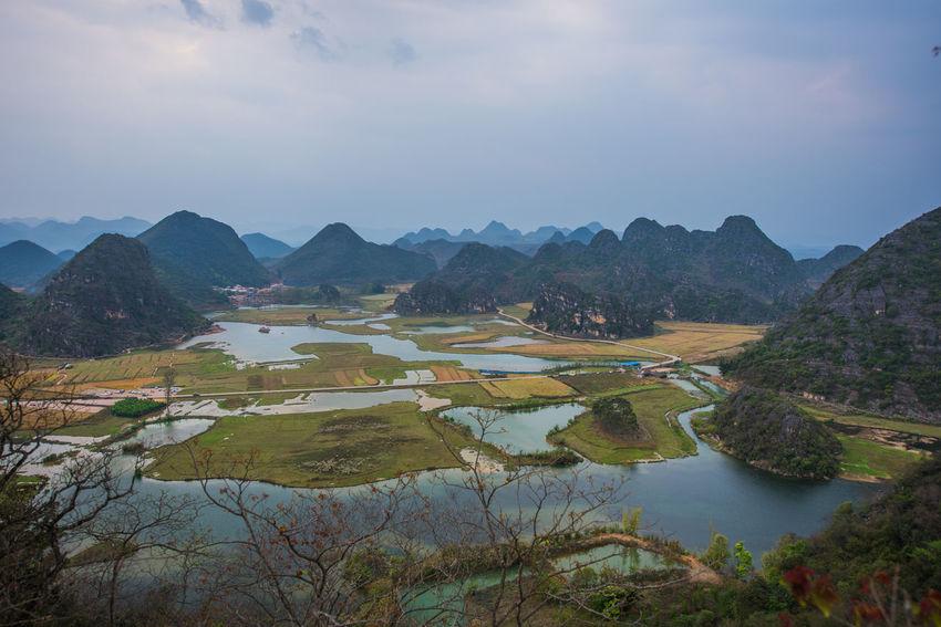 Ziseetheworld Ziwang Beauty In Nature Yunnan ,China National Geographic Scenics No People Puzhehei Reflection Mountain Range Landscape Mountain Ranges