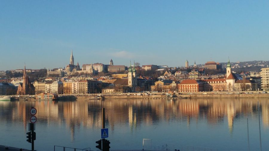 Danube In Budapest Danube Tranquility Calm Water Reflection Sky River Building Exterior Clear Sky