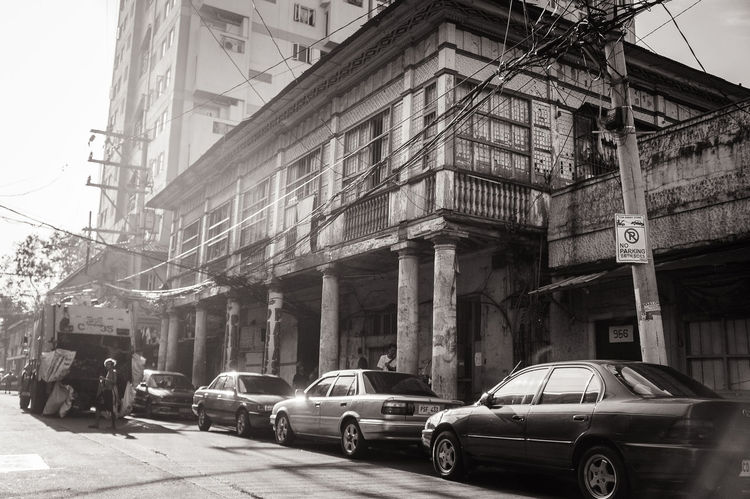 Old house, old street. Quiapo and Santa Cruz heritage districts of Manila. Architecture Building Building Exterior City City Street Manila Philippines Quiapo Road