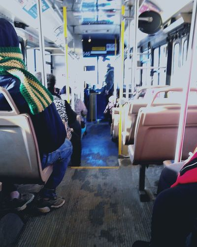 The Places I've Been Today Public Transportation Braving The Cold Belowzero Below Freezing Out