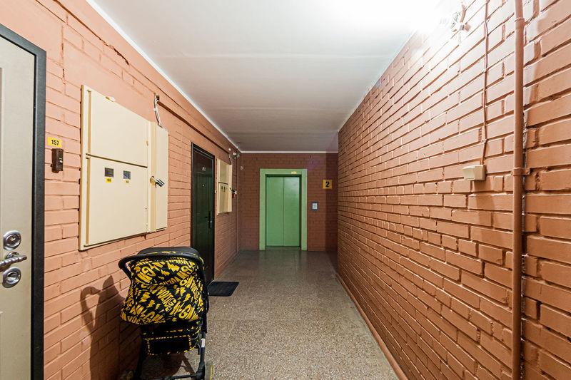 Interior of illuminated building