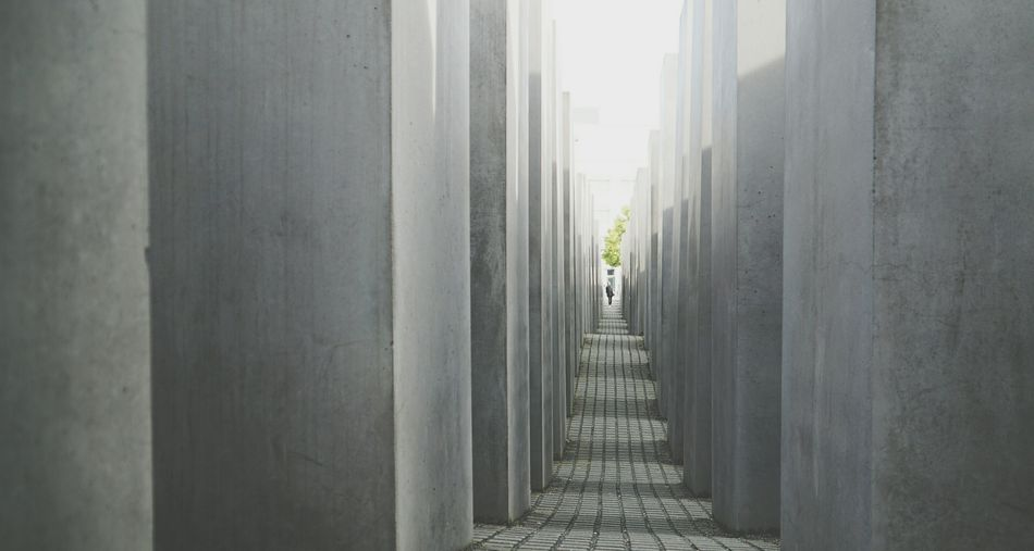 Berlin-Germany Architecture Indoors  Built Structure History My View Berlin, Germany  Travel Destinations Architecture Berlin Holocaustdenkmal Architectural Column