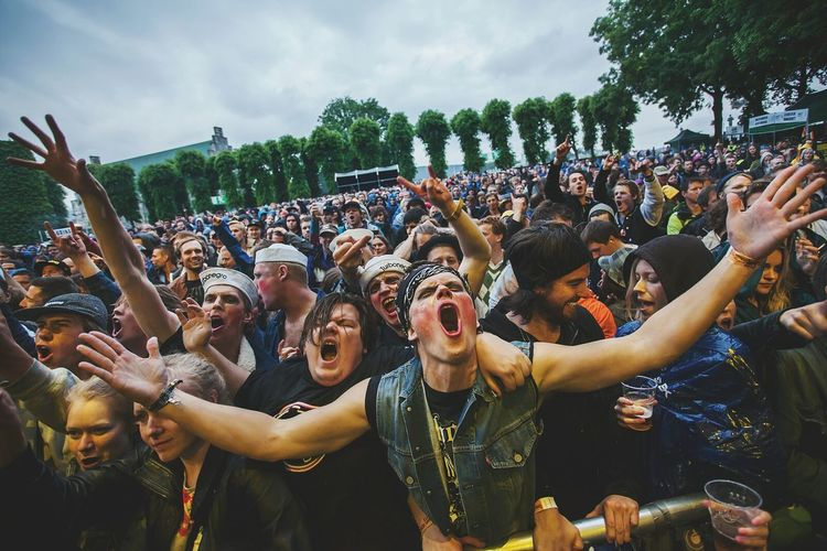 The Audience at Turbonegros gig at Bergenfest a few years back. For The Love Of Music Music Photography  Concert Photography