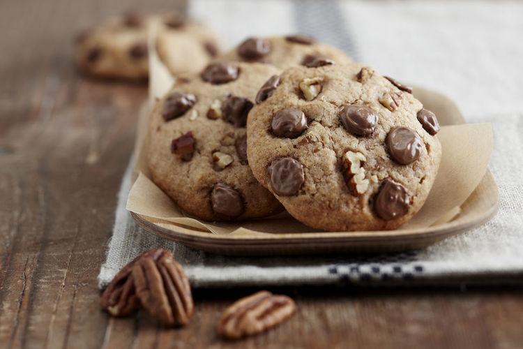Cookies noix de Macadamia Chocolate Close-up COOKIES! Dessert Homemade Macadamia Nuts Sweet Food