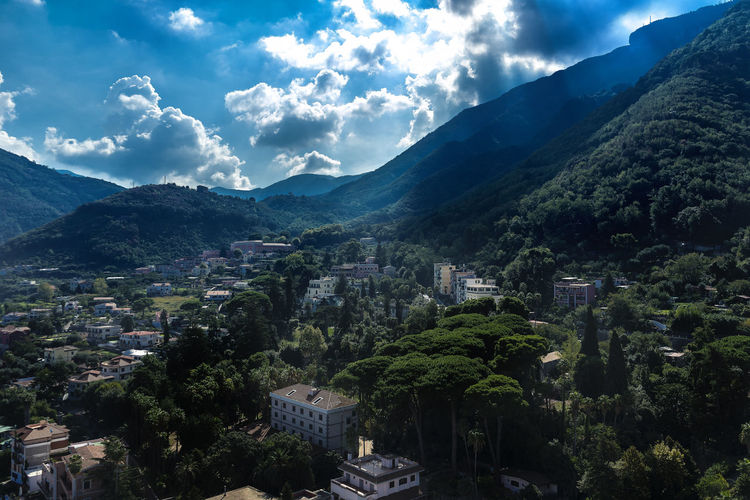 Cable car views Cable Car Circumvesuviana EyeEm Nature Lover Holiday Mountain Valley Travel Clouds Day Forest Funicolare Italy Mountains Sun