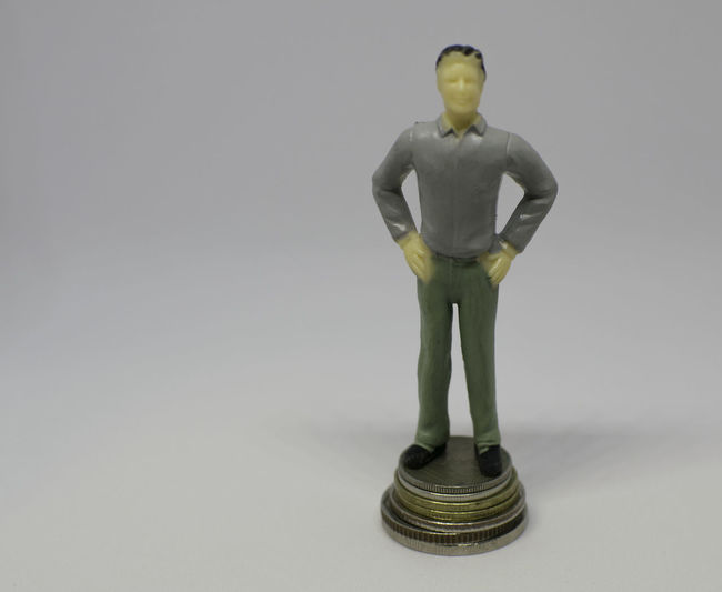Miniature Standing On Coin