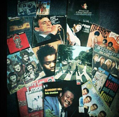 "found me some ""new"" vinyl records Vinylcollector Vinyl Records Johnny Cash Beatles"