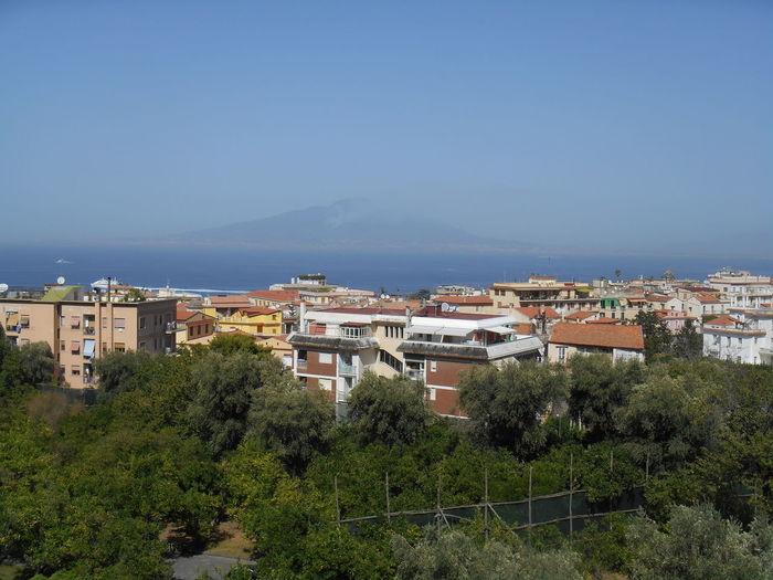 Bay Of Naples, Italy. Clear Sky Landscape Sky Sorrento Sorrento, Italia Tree Vesuvius  First Eyeem Photo