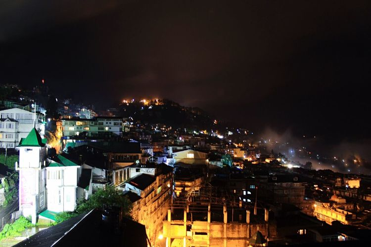 My Year My View Midnight Cityscape Darjeeling