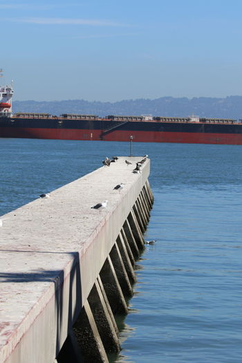 Clear Sky Day Harbour Nature Outdoors Pier San Francisco Bay Scenics Sea Sky Tanker Vessel Water