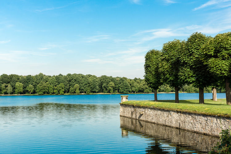 Schlossteich von Moritzburg Beauty In Nature Blue Cloud Cloud - Sky Day EyeEm Nature Lover GERMANY🇩🇪DEUTSCHERLAND@ Green Color Growth Idyllic Lake Landscape_Collection Moritzburg  Nature Nature On Your Doorstep Outdoors Rippled Saxony Scenics Sky Tranquil Scene Tranquility Tree Water Water Reflections