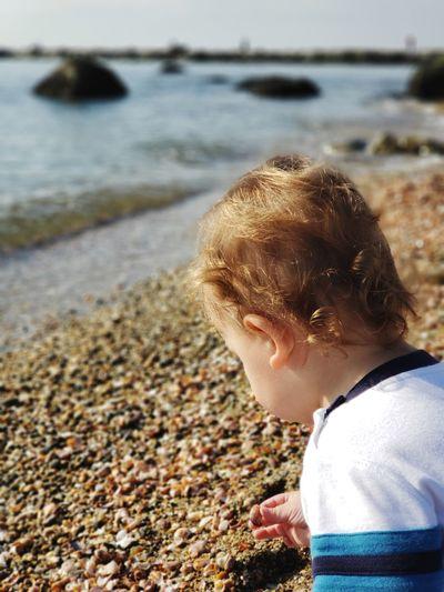 Water Child Beach Sea Childhood Boys Blond Hair Close-up