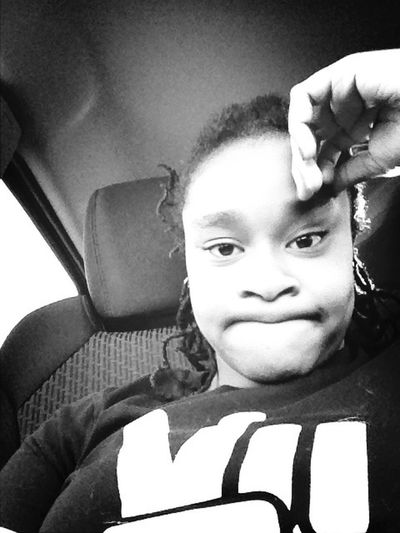 In the car bored