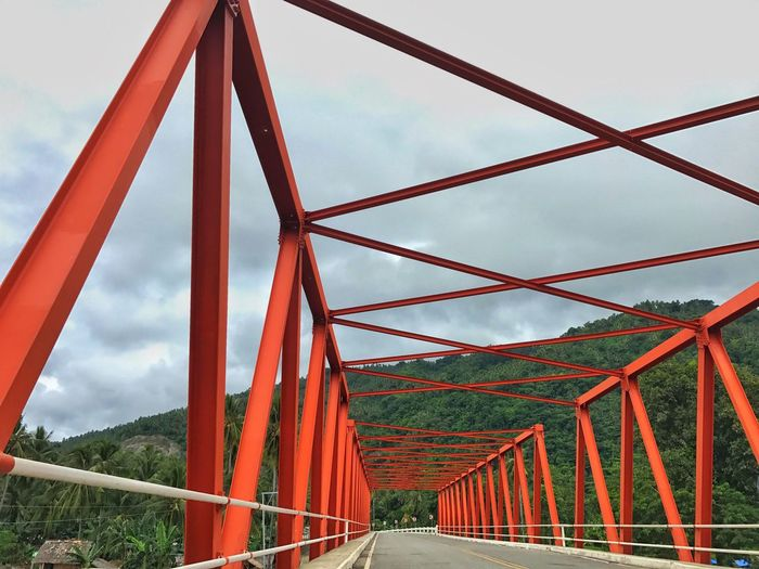 Bridge - Man Made Structure Connection Engineering Built Structure Metal Outdoors Red Landscape Architecture Travel Destinations Nature