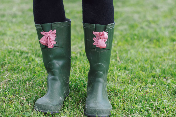 Country Farm Farmer Fashion Grass Green Pink Woman Bands Chic Country Fashion Country Style Cute Feet Female Hipster Landscape Legs Rubber Boots Style