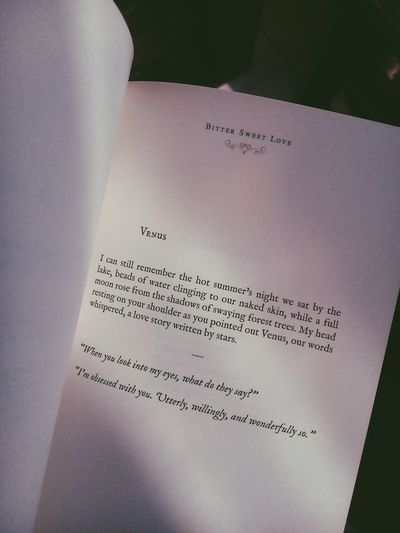 Text Communication No People Day Close-up Indoors  Book Lang Leav