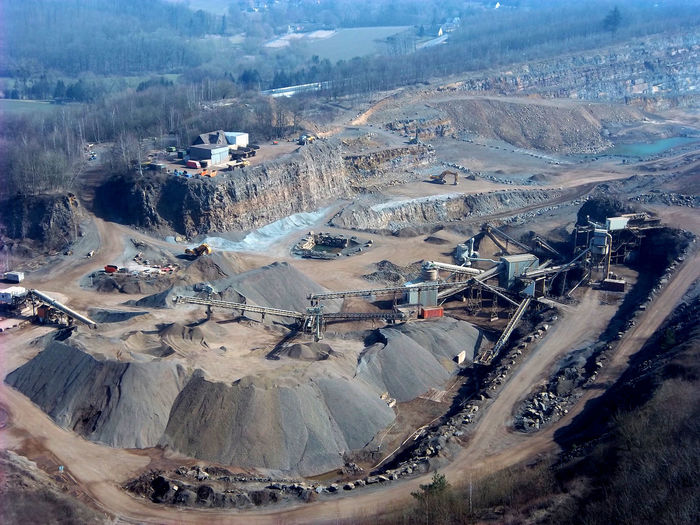 Geology High Angle View Landscape Mining Mountain Nature No People Quarry