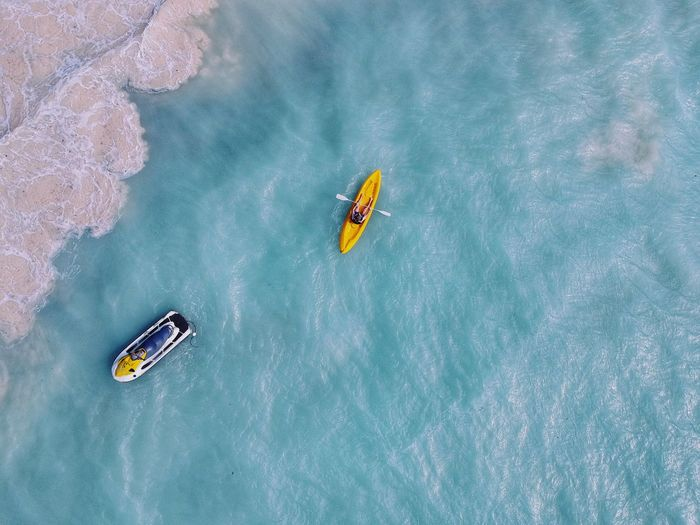 Not far enough. DJI X Eyeem Rowing Jet Ski From Above  Ocean Kayak Aquatic Sport Dronephotography Drone  Water Nature Sport Aquatic Sport Sea Transportation Adventure Travel Nautical Vessel Beauty In Nature Blue High Angle View Vacations Trip Turquoise Colored Scenics - Nature Travel Destinations The Great Outdoors - 2018 EyeEm Awards