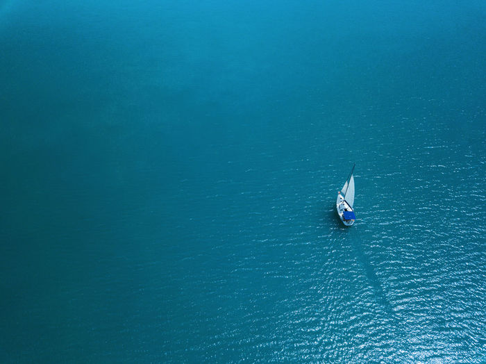 A sailboat on